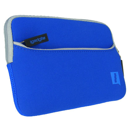 Blue Neoprene Case Cover with Front Pocket for Samsung Galaxy Tab S2 8'' SM-T710 Protective Sleeve Thumbnail 3