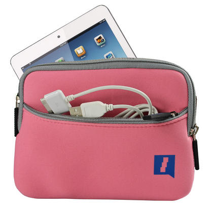 iGadgitz Pink Neoprene Case with Pocket for Apple iPad Mini 1st Gen & 2nd Gen with Retina Display (launched Oct 13) Thumbnail 1