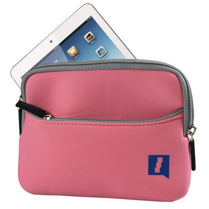 iGadgitz Pink Neoprene Case with Pocket for Apple iPad Mini 1st Gen & 2nd Gen with Retina Display (launched Oct 13) Thumbnail 2