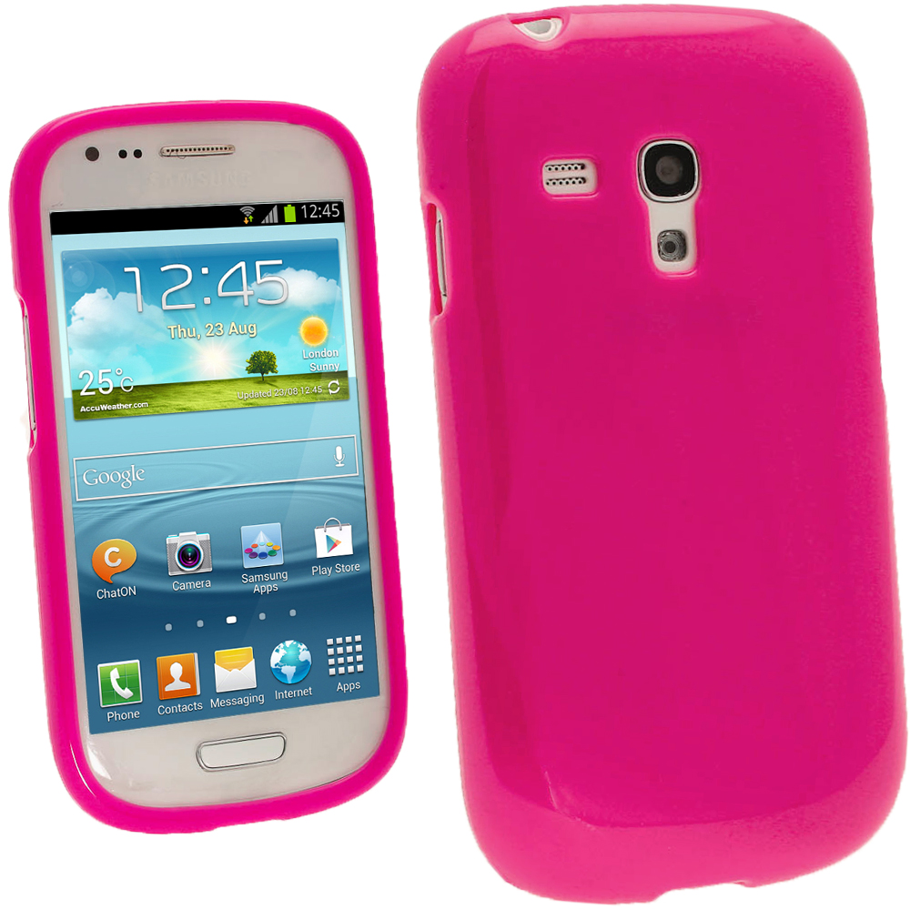 igadgitz hot pink glossy gel case for samsung galaxy s3. Black Bedroom Furniture Sets. Home Design Ideas