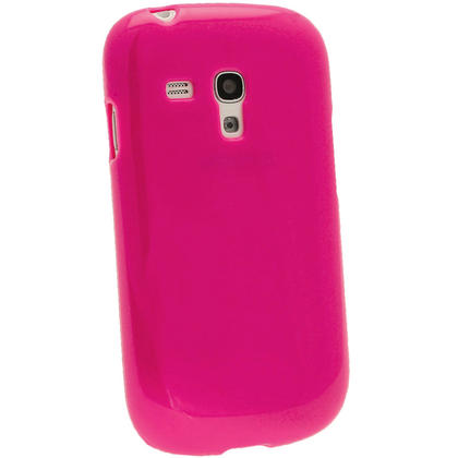iGadgitz Hot Pink Glossy Gel Case for Samsung Galaxy S3 III Mini I8190 + Screen Protector Thumbnail 3
