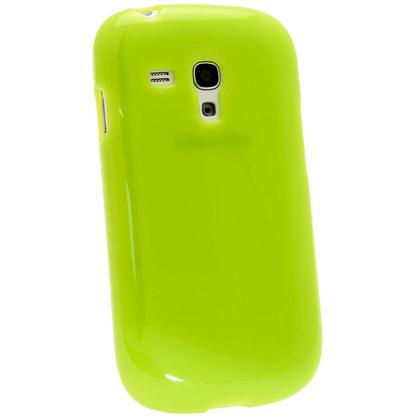 iGadgitz Green Glossy Gel Case for Samsung Galaxy S3 III Mini I8190 + Screen Protector Thumbnail 3