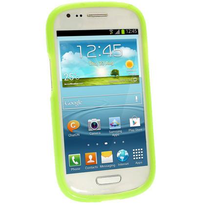iGadgitz Green Glossy Gel Case for Samsung Galaxy S3 III Mini I8190 + Screen Protector Thumbnail 2