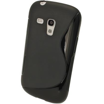 iGadgitz Dual Tone Black Gel Case for Samsung Galaxy S3 III Mini I8190 + Screen Protector Thumbnail 2