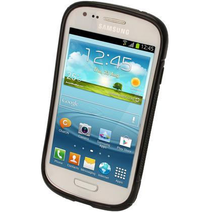 iGadgitz Dual Tone Black Gel Case for Samsung Galaxy S3 III Mini I8190 + Screen Protector Thumbnail 3