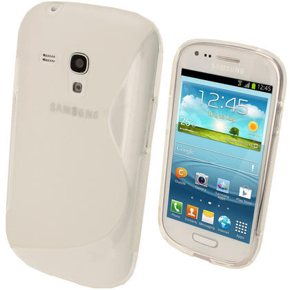 iGadgitz Dual Tone Clear Gel Case for Samsung Galaxy S3 III Mini I8190 + Screen Protector Thumbnail 1