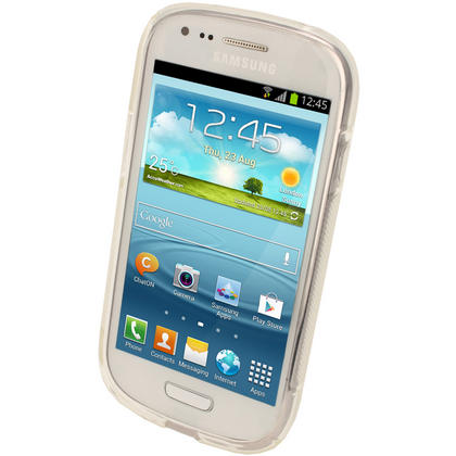 iGadgitz Dual Tone Clear Gel Case for Samsung Galaxy S3 III Mini I8190 + Screen Protector Thumbnail 3