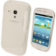 iGadgitz Dual Tone Clear Gel Case for Samsung Galaxy S3 III Mini I8190 + Screen Protector