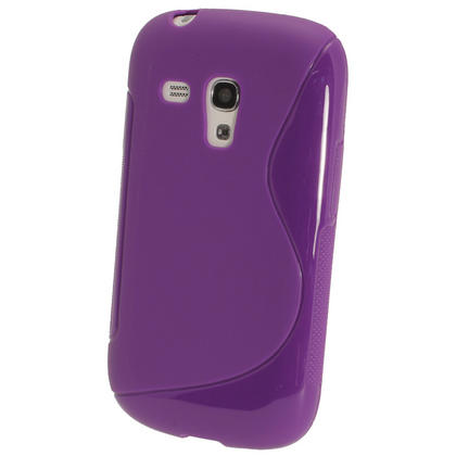 iGadgitz Dual Tone Purple Gel Case for Samsung Galaxy S3 III Mini I8190 + Screen Protector Thumbnail 3
