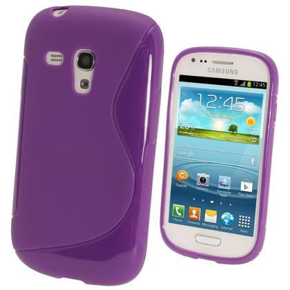 iGadgitz Dual Tone Purple Gel Case for Samsung Galaxy S3 III Mini I8190 + Screen Protector Thumbnail 1