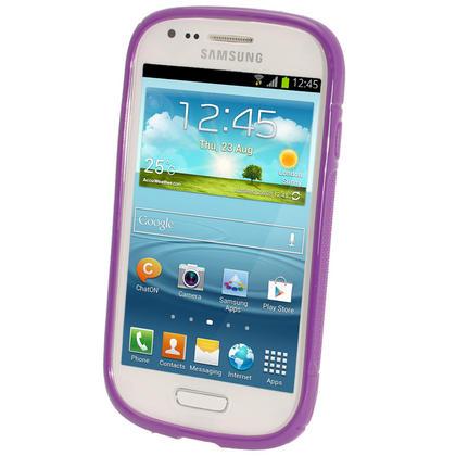 iGadgitz Dual Tone Purple Gel Case for Samsung Galaxy S3 III Mini I8190 + Screen Protector Thumbnail 2