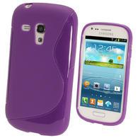 iGadgitz Dual Tone Purple Gel Case for Samsung Galaxy S3 III Mini I8190 + Screen Protector