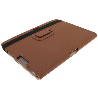 "iGadgitz Brown Portfolio PU Leather Case Cover for Asus Transformer Pad & Keyboard Dock TF700 TF700T Infinity 10.1"" Tab Thumbnail 8"