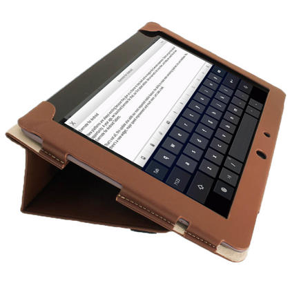 "iGadgitz Brown Portfolio PU Leather Case Cover for Asus Transformer Pad & Keyboard Dock TF700 TF700T Infinity 10.1"" Tab Thumbnail 5"