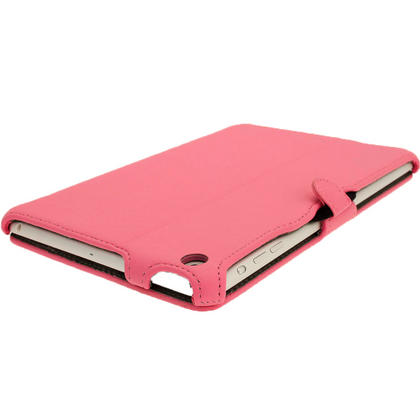 iGadgitz Pink PU Leather Case for Apple iPad Mini 16GB 32GB 64GB. With Sleep/Wake Function & Integrated Hand Strap Thumbnail 8