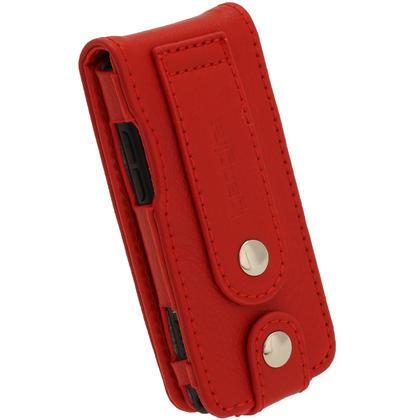 iGadgitz Red Leather Case for Sony Walkman NWZ-E473 NWZ-E474 NWZ-E574 NWZ-E575 E Series MP3 Player Thumbnail 4