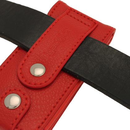 iGadgitz Red Leather Case for Sony Walkman NWZ-E473 NWZ-E474 NWZ-E574 NWZ-E575 E Series MP3 Player Thumbnail 2