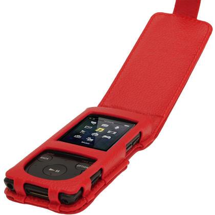 iGadgitz Red Leather Case for Sony Walkman NWZ-E473 NWZ-E474 NWZ-E574 NWZ-E575 E Series MP3 Player Thumbnail 3