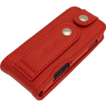 iGadgitz Red Leather Case for Sony Walkman NWZ-E473 NWZ-E474 NWZ-E574 NWZ-E575 E Series MP3 Player Thumbnail 6