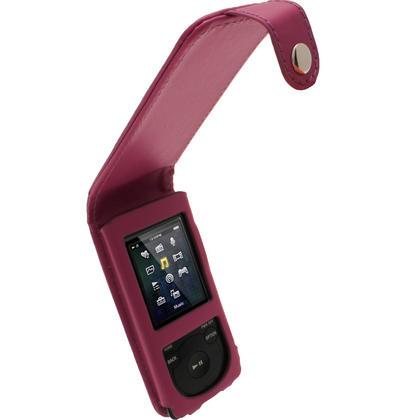 iGadgitz Purple PU Leather Case for Sony Walkman NWZ-E473 NWZ-E474 NWZ-E574 NWZ-E575 E Series MP3 Player Thumbnail 1