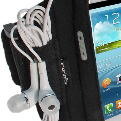 iGadgitz Black Neoprene Sports Armband for Samsung Galaxy S3 III Mini I8190 (NOT SUITABLE FOR GALAXY S3 i9300) Thumbnail 3