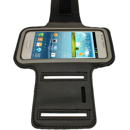 iGadgitz Black Reflective Anti-Slip Sports Armband for Samsung Galaxy S3 III Mini I8190 (NOT SUITABLE FOR S3 i9300) Thumbnail 3