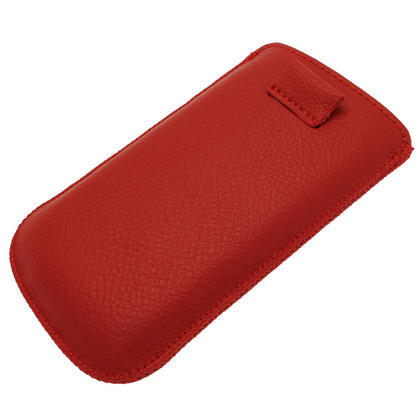 iGadgitz Red Leather Pouch Case Cover for Samsung Galaxy S3 III Mini I8190 Android Smartphone Mobile Phone Thumbnail 3