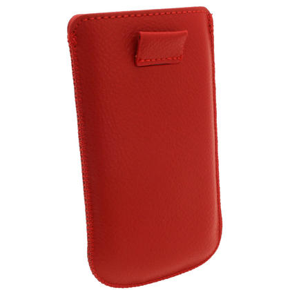 iGadgitz Red Leather Pouch Case Cover for Samsung Galaxy S3 III Mini I8190 Android Smartphone Mobile Phone Thumbnail 4
