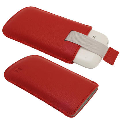iGadgitz Red Leather Pouch Case Cover for Samsung Galaxy S3 III Mini I8190 Android Smartphone Mobile Phone Thumbnail 2