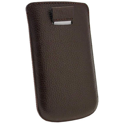 iGadgitz Brown Leather Pouch Case Cover for Samsung Galaxy S3 III Mini I8190 Android Smartphone Mobile Phone Thumbnail 4