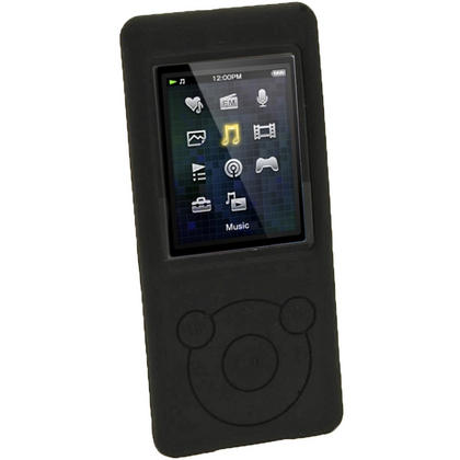 iGadgitz Black Silicone Case for Sony Walkman NWZ-E473 NWZ-E474 NWZ-E574 NWZ-E575 E Series MP3 Player + Screen Protector Thumbnail 2