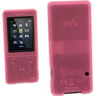 iGadgitz Pink Silicone Case for Sony Walkman NWZ-E473 NWZ-E474 NWZ-E574 NWZ-E575 E Series MP3 Player + Screen Protector