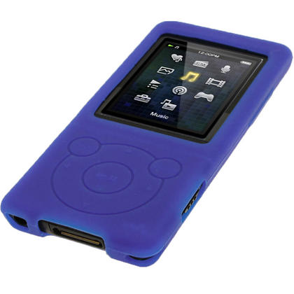 iGadgitz Blue Silicone Case for Sony Walkman NWZ-E473 NWZ-E474 NWZ-E574 NWZ-E575 E Series MP3 Player + Screen Protector Thumbnail 4
