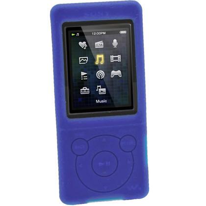 iGadgitz Blue Silicone Case for Sony Walkman NWZ-E473 NWZ-E474 NWZ-E574 NWZ-E575 E Series MP3 Player + Screen Protector Thumbnail 2