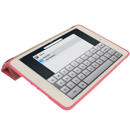 iGadgitz Pink Rubberised Plastic with Hard Back Case for Apple iPad Mini 16GB 32GB 64GB. With Sleep/Wake Function. Thumbnail 5