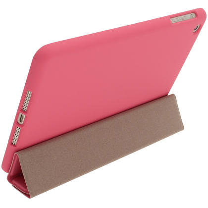 iGadgitz Pink Rubberised Plastic with Hard Back Case for Apple iPad Mini 16GB 32GB 64GB. With Sleep/Wake Function. Thumbnail 2