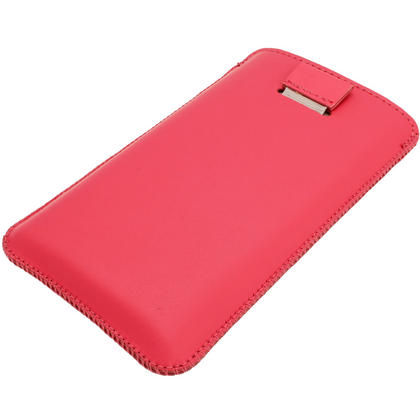 iGadgitz Pink Leather Pouch Case Cover for Nokia Lumia 920, 925 & 1020 Windows Smartphone Mobile Phone Thumbnail 3