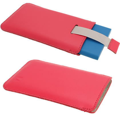 iGadgitz Pink Leather Pouch Case Cover for Nokia Lumia 920, 925 & 1020 Windows Smartphone Mobile Phone Thumbnail 2