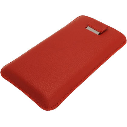iGadgitz Red Leather Pouch Case Cover for Nokia Lumia 920 & 925 Windows Smartphone Mobile Phone Thumbnail 3