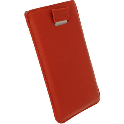 iGadgitz Red Leather Pouch Case Cover for Nokia Lumia 920 & 925 Windows Smartphone Mobile Phone Thumbnail 4