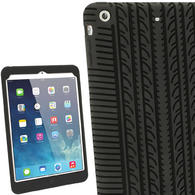 iGadgitz Black Tyre Tread Silicone Case for Apple iPad Mini 1st & 2nd Generation with Retina Display + Screen Protector
