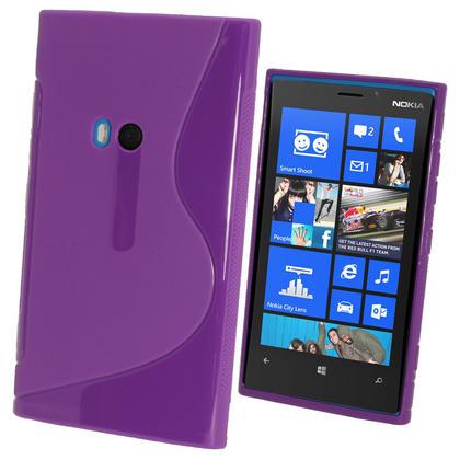 iGadgitz Dual Tone Purple Gel Case for Nokia Lumia 920 + Screen Protector Thumbnail 1