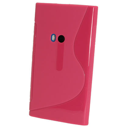 iGadgitz Dual Tone Hot Pink Gel Case for Nokia Lumia 920 + Screen Protector Thumbnail 3