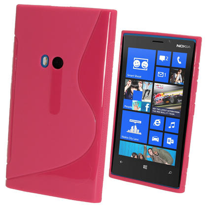 iGadgitz Dual Tone Hot Pink Gel Case for Nokia Lumia 920 + Screen Protector Thumbnail 1