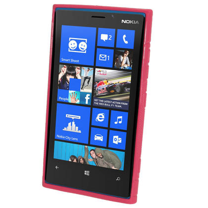 iGadgitz Dual Tone Hot Pink Gel Case for Nokia Lumia 920 + Screen Protector Thumbnail 2