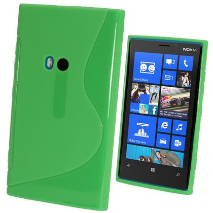 iGadgitz Dual Tone Green Gel Case for Nokia Lumia 920 + Screen Protector Thumbnail 1