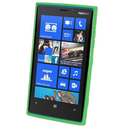 iGadgitz Dual Tone Green Gel Case for Nokia Lumia 920 + Screen Protector Thumbnail 2