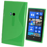 iGadgitz Dual Tone Green Gel Case for Nokia Lumia 920 + Screen Protector