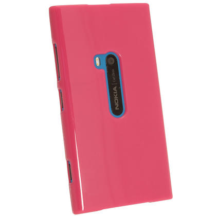 iGadgitz Hot Pink Glossy Gel Case for Nokia Lumia 920 + Screen Protector Thumbnail 3