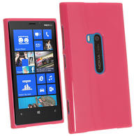 iGadgitz Hot Pink Glossy Gel Case for Nokia Lumia 920 + Screen Protector